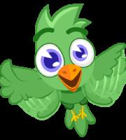 Turma Mundo Bita Animais Pássaro Verde
