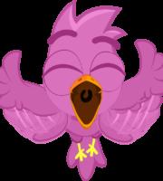 Turma Mundo Bita Animais Pássaro Pink Rosa