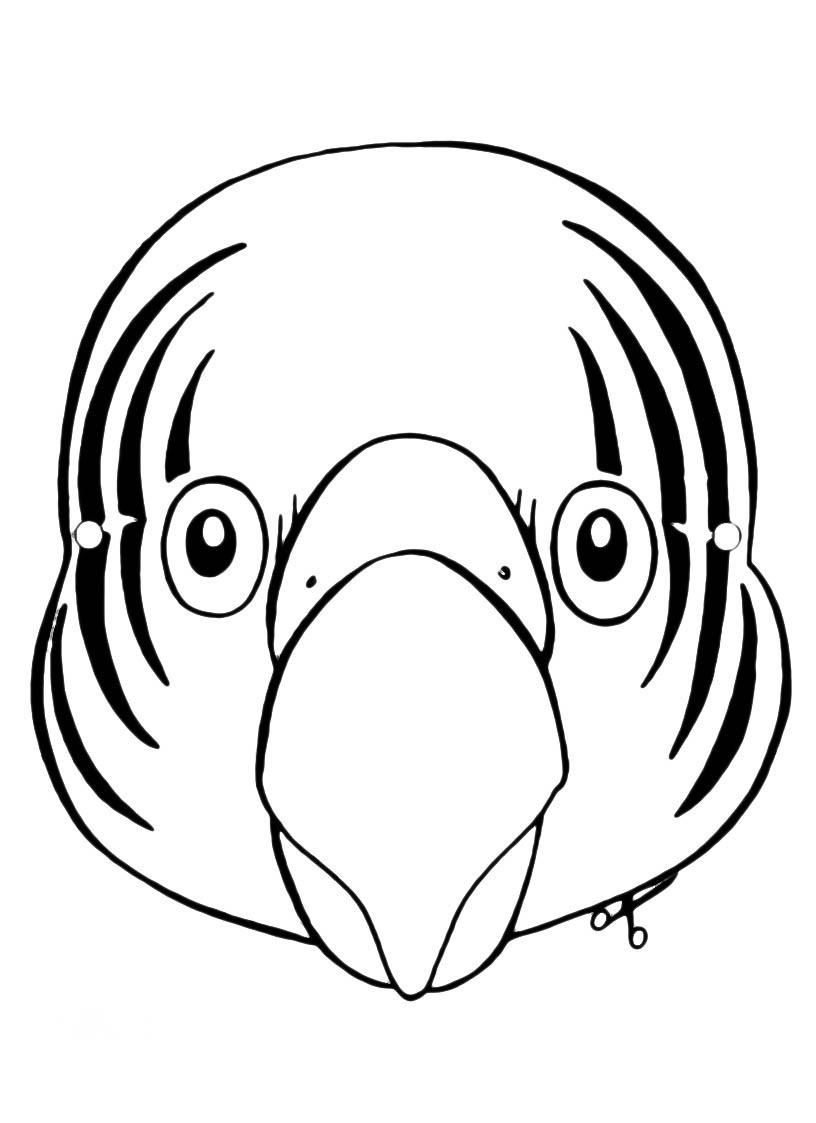 Desenho Para Colorir Mascara De Papagaio