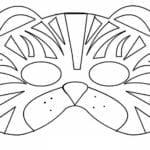 Desenhos para Colorir e Imprimir de Máscara de Tigre
