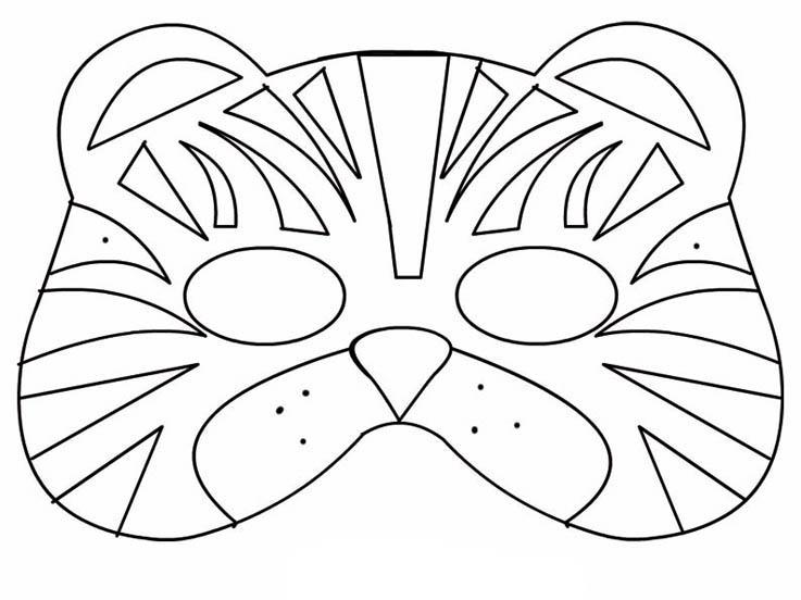 Desenhos Para Colorir E Imprimir De Mascara De Tigre