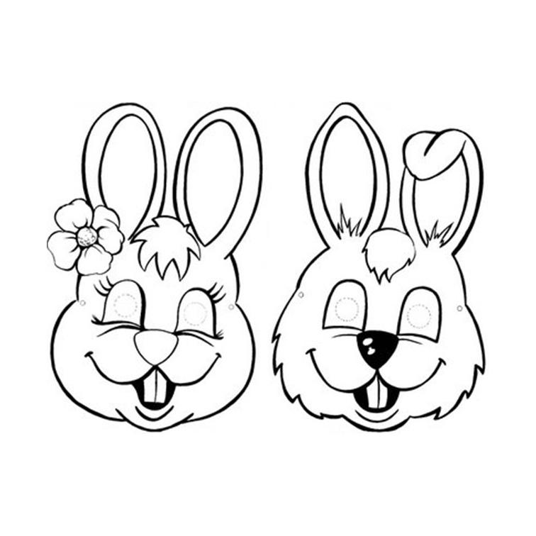 Desenhos De Rostos De Coelhinhos Da Pascoa Para Colorir