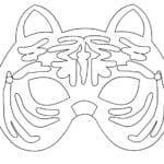 Desenhos para Colorir e Imprimir de Máscara de Tigreza