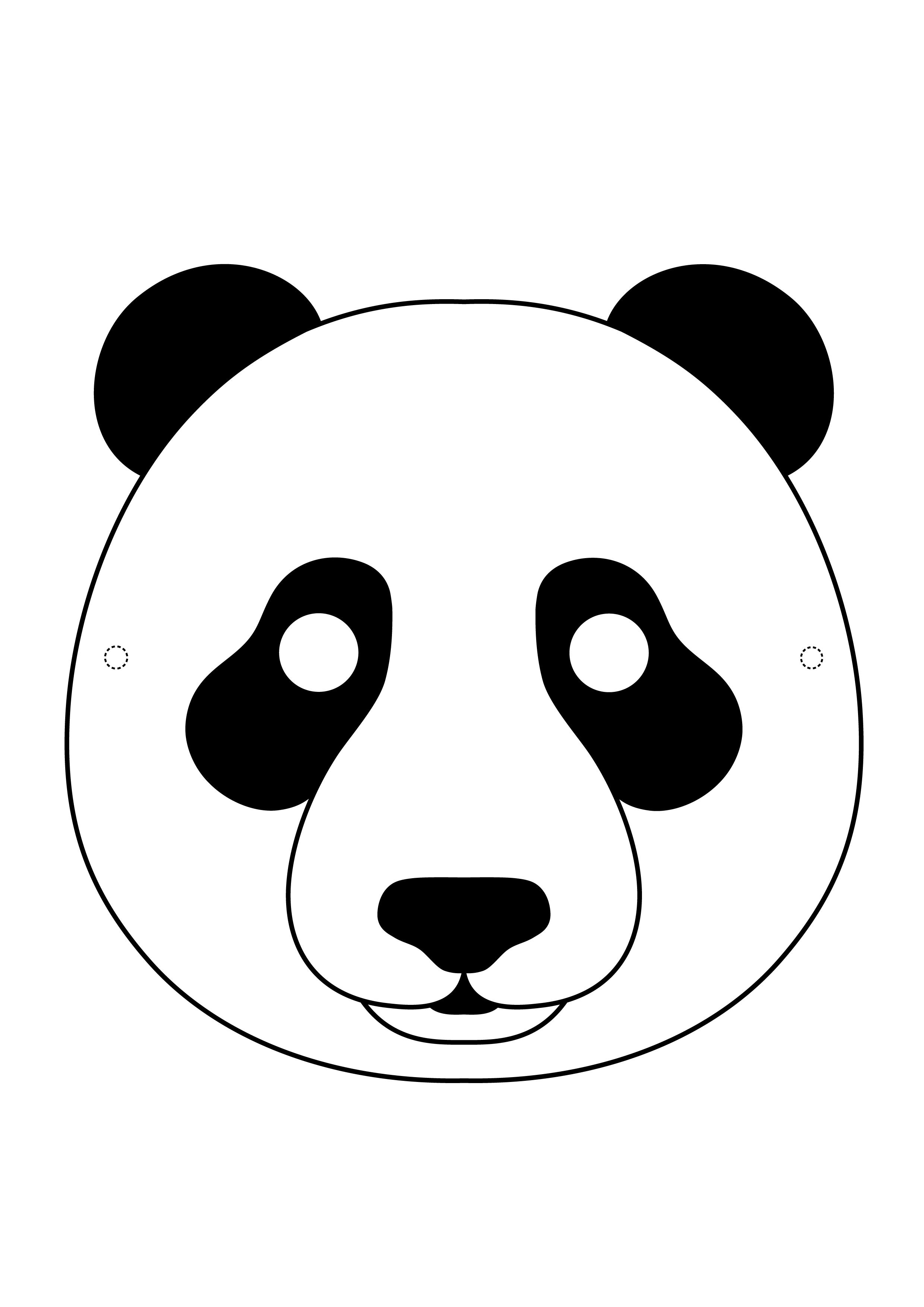 Desenhos Para Colorir E Imprimir De Mascara De Urso Panda