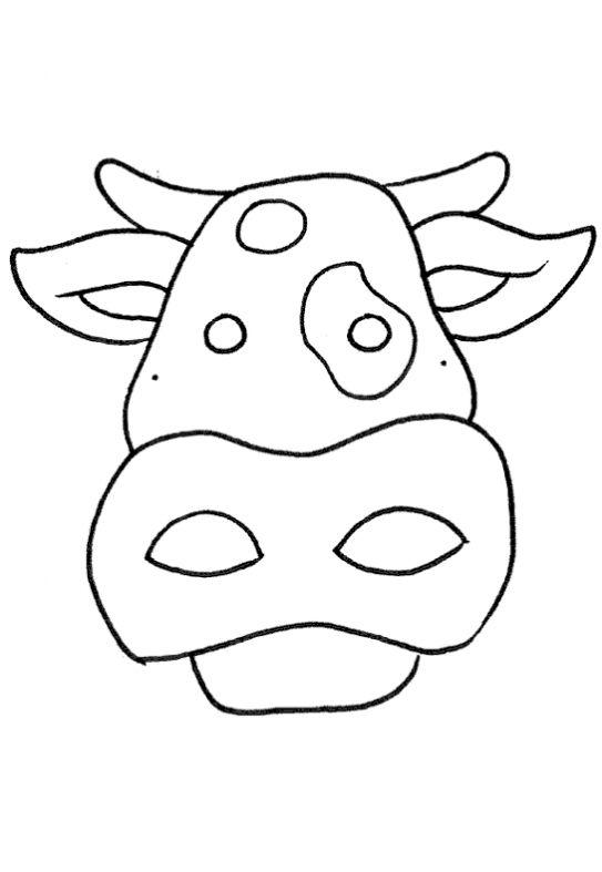 Desenhos Para Colorir E Imprimir De Mascara De Vaquinha