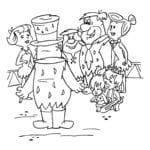 Desenhos de Os Flintstones para Colorir e Imprimir