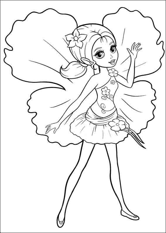 Desenhos Para Colorir E Imprimir Barbie A Pequena Polegar