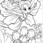 Desenhos da Barbie A Pequena Polegar para Colorir e Imprimir