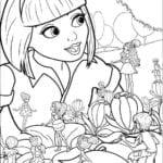 Imagens para Colorir Barbie A Pequena Polegar