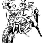 Desenhos para Colorir e Imprimir da Betty Boop