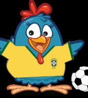 Galinha Pintadinha Camiseta do Brasil PNG