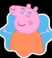 Mamãe Pig Splat PNG