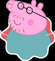 Papai Pig Splat PNG