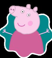 Vovó Pig Splat PNG