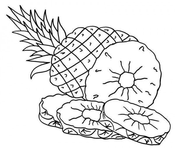 Desenhos De Abacaxi Para Colorir E Imprimir Desenhos Para Pintar