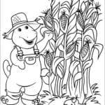 Desenhos do Barney e Seus Amigos para Colorir e Imprimir