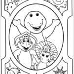Desenhos do Barney e Seus Amigos para Colorir
