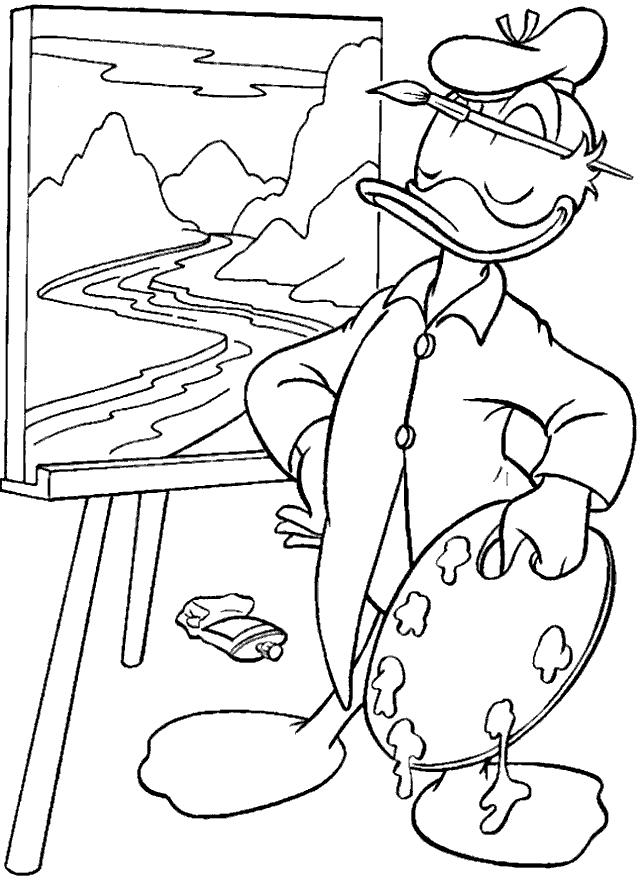 Desenhos Do Pato Donald Para Colorir E Imprimir Desenhos Para