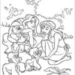 Desenhos do Tarzan para Colorir e Imprimir