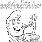Desenhos do Tá Chovendo Hambúrguer para Colorir
