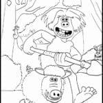 Desenhos para Colorir e Imprimir O Homem das Cavernas