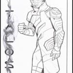 Desenhos da Capitã Marvel para Colorir