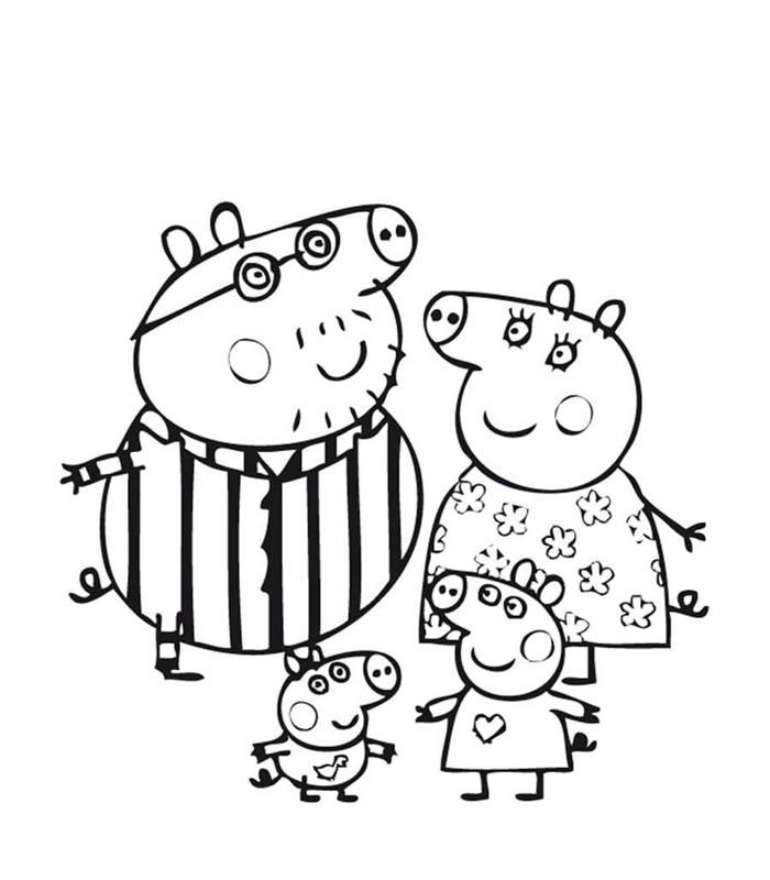 Desenhos Da Peppa Pig Para Colorir E Imprimir Desenhos Para Pintar