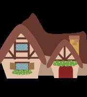 Branca de Neve Cute Casa Sete Anões PNG