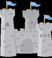 Branca de Neve Cute Castelo PNG