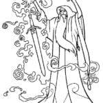 Desenhos para colorir e Imprimir – A Espada Mágica