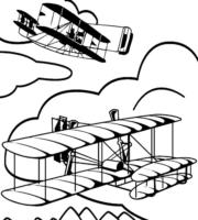 Desenho de 14 Bis para colorir