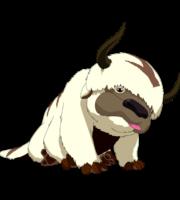 Avatar A Lenda Aang Appa PNG