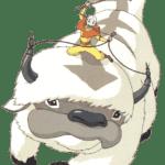 Avatar A Lenda Aang Appa PNG 04