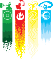 Avatar A Lenda Aang - Elementos PNG