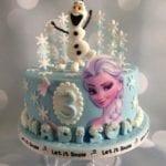 Bolo Decorado da Frozen