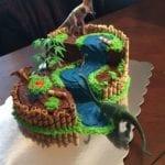 Bolo de Aniversário Infantil Tema Dinossauro