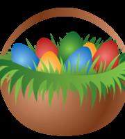 Cesta de Páscoa - Coelho - Ovos PNG