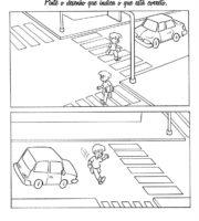 Desenho de Atividade Dia do Trânsito para colorir