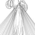 Desenho de Misericórdia de Jesus para colorir
