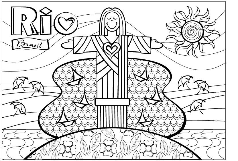 Desenho De Romero Britto Rio De Janeiro Para Colorir
