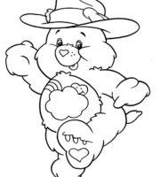 Desenho de Ursinhos Carinhosos no faroeste para colorir