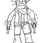 Desenho de Xerife do oeste selvagem para colorir