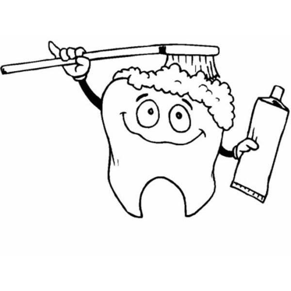 Imagens Educativos Para Colorir E Imprimir Desenho De Escovar Dente