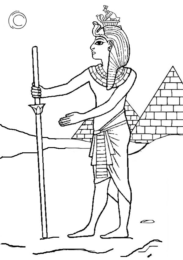 Desenho De Farao E As Piramides Do Egito Para Colorir