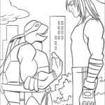Desenhos das Tartarugas Ninja para colorir e imprimir