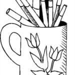 Páginas de Material Escolar para Colorir e Imprimir