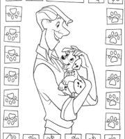 Imagens do 101 Dálmatas para colorir e imprimir