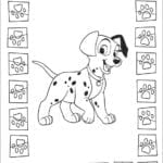 Desenhos do 101 Dálmatas para colorir e imprimir