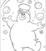 Desenhos do Frosty - O boneco de neve para colorir