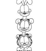 Desenhos do Garfield para colorir e imprimir